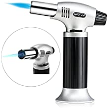 Azornic Kitchen Blow Torch Refillable Butane Culinary Torch Chef Cooking Adjustable Flame Lighter with Safety Lock for DIY, Creme, Brulee, BBQ (Butane Not Included)
