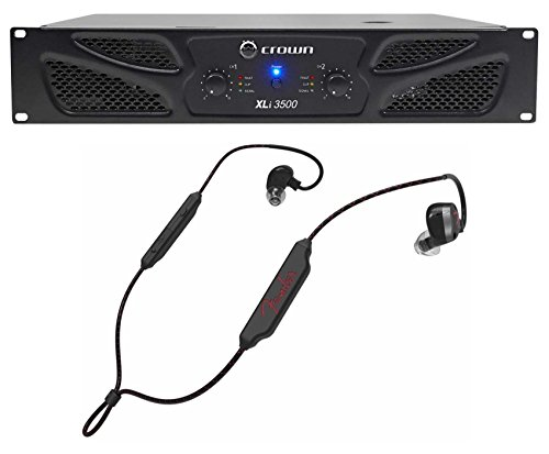Crown Pro XLi3500 2700w 2 Channel PA Power Amplifier Amp XLI 3500+Fender Earbuds -  XLI3500+PureSonic BT PLUS