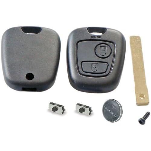 durable modeling Kit de réparation pour clé télécommande 2 boutons de Peugeot 307 Citroën