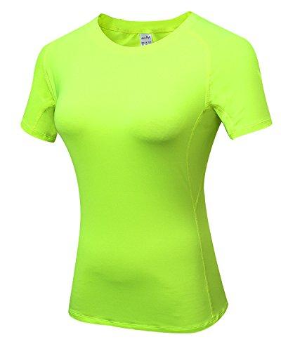 見分けるバンド誰もLNJLVI レディーズ スポーツウェア 半袖シャツ Tシャツ コンプレッションウェアトップス 吸汗速乾 通気 UVカット 7色 5サイズ