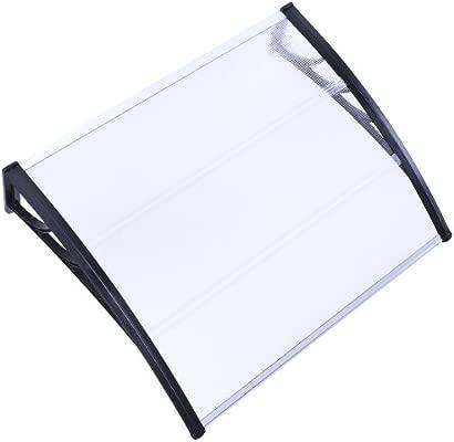 T/ür/überdachung Robust /Überdachung Haust/ürvordach Pultvordach transparent in verschiedenen Gr/ö/ßen resistent gegen Au/ßentemperaturen von 40 bis 120 /°C 100x120 cm Vordach aus Kunststoff