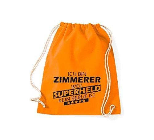 Shirtstown Bolsa de gimnasio Estoy Zimmerer, weil Superheld sin Trabajo ist Naranja