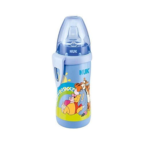 NUK Disney Winnie The Pooh Active Cup, 300ml (12m+) Blue - Pack of 6