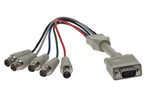 SF Cable, 1ft HD15 VGA Male to 5 BNC Female Cable