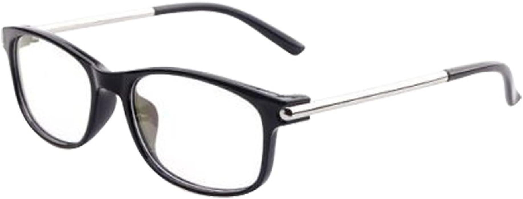 ab66bd1abbe Amazon.com  Glasses non prescription Bright Black 12 colors Man Women  Master Eyeglass Frame Metal Full-Rim Glasses Spectacles RX glasses headband  eyewear ...