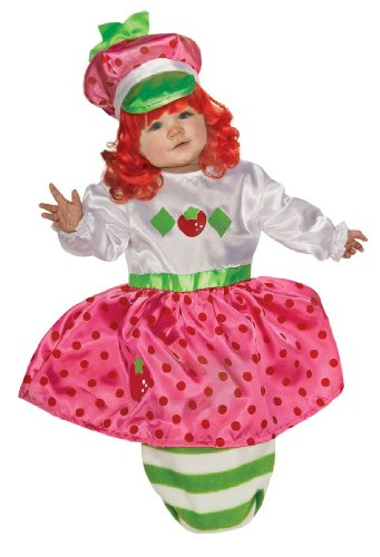 Strawberry Shortcake Baby Bunting And Headpiece, Red Print, 0-9 Months Costume (Strawberry Shortcake Outfits For Toddlers)