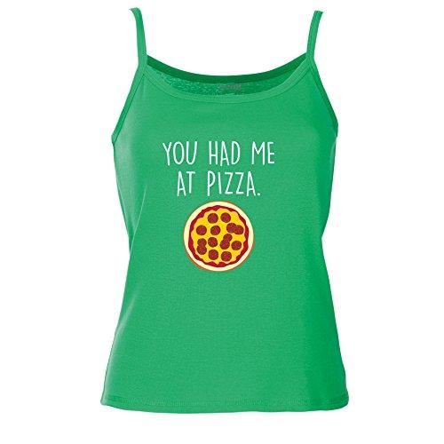 Brand88 - You Had Me At Pizza Chaleco De Verano Mujer Kelly Verde/Blanco