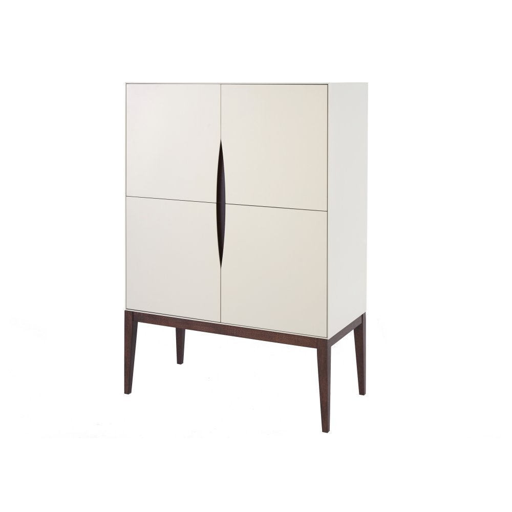 Gillmore Space Luxurious Ivory White Tall Sideboard Online Kaufen