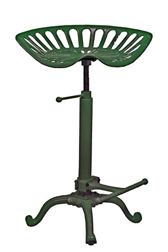 - NACH Vintage js-93-800GN Adjustable Tractor Seat Stool, Green