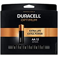 Duracell Optimum AA Batteries | 12 Count Pack | Lasting Power Double A Battery | Alkaline AA Battery Ideal for Household and Office Devices | Resealable Package for Storage