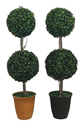 Entrada EN112035 Double Ball Topiary in Pot, 28