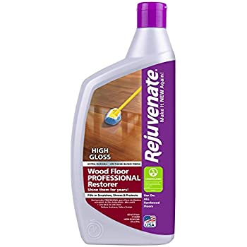 Rejuvenate Professional Wood Floor Restorer With Durable High Gloss Finish  Non Toxic Easy Mop On