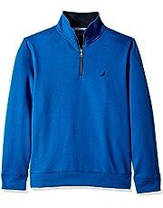 Nautica Men's Solid 1/4 Zip Fleece Sweatshirt