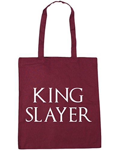 HippoWarehouse King Slayer Tote Compras Bolsa de playa 42cm x38cm, 10litros granate