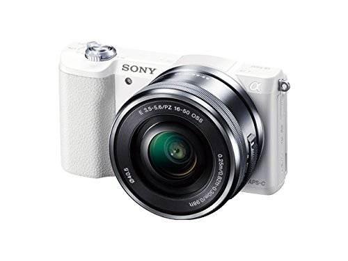 Sony a5100 16-50mm Mirrorless Digital Camera with 3-Inch Flip Up LCD (White) - International Version (No Warranty)