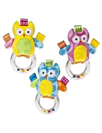 Owl Ring Rattle Taggies Colour - Colors May Vary BOBEBE Online Baby Store From New York to Miami and Los Angeles