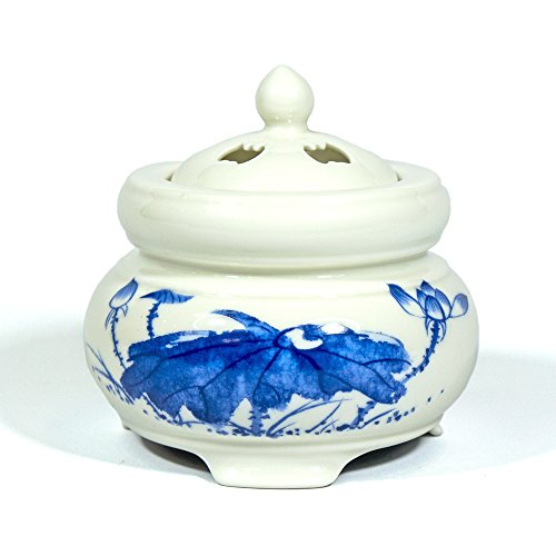 Electric Incense Burner Heater - Blue Lotus Drawing Type 110V 18W 80-220degree C by IncenseHouse - Electric Burner