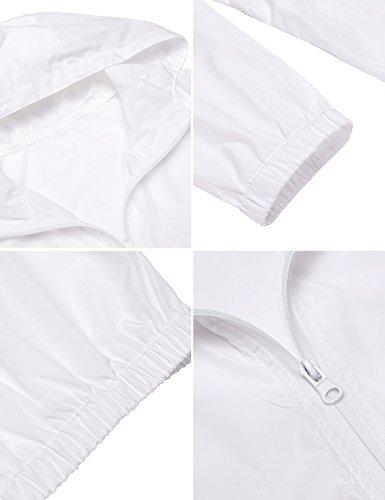 Swiftt Pluie 5 En Capuche À Vent Femmes Veste De Imperméable Couleurs Veste Imperméable Veste Blanc Coupe 76gybfYv