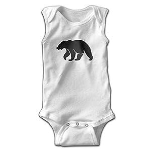 Top1VA Polar Bear Funny Fashion Logo Baby Sleeveless Bodysuits Unisex Cute Lap Shoulder Onesies