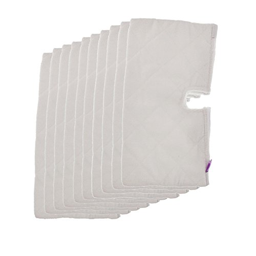 Fushing 10Pcs Microfiber Replacement Cleaning Pads for Shark Steam Pocket Mops S3500 series,S2902,S3455K,S3501,S3550,S3601,S3801,S3901,S4601,S4701,S4701D,SE450 by Fushing