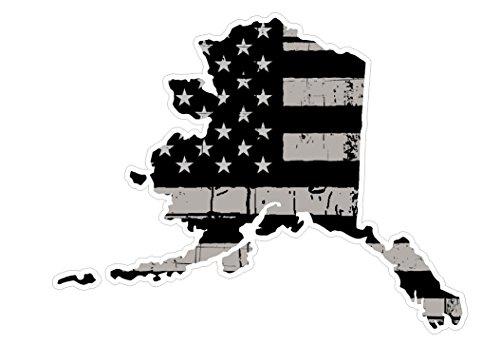 Alaska State (N4) Distressed Flag Vinyl Decal Sticker Car/Truck Laptop/Netbook Window