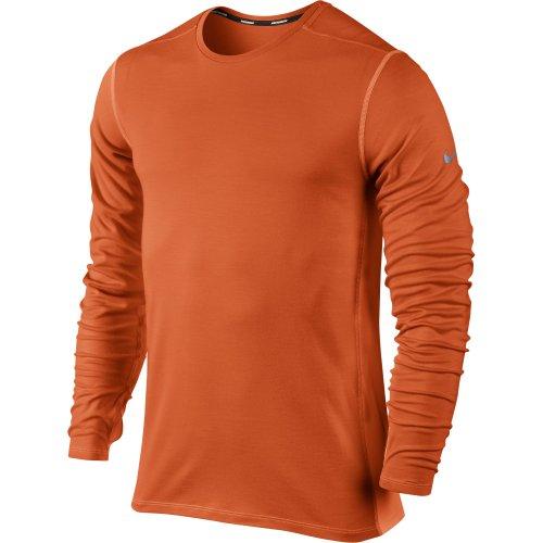 Nike Men's Dri-Fit Wool Crew Long Sleeve T-Shirt Orange Size XL