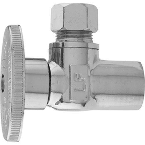- Keeney 2780PCLF 1/2-Inch Copper Sweat by 3/8-Inch O.D. Lead Free Quarter Turn Angle Valve, Chrome