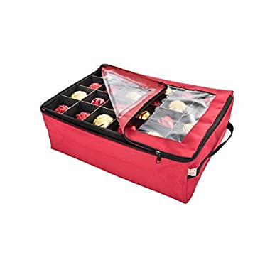 Santa's Bags Ornament Storage Bag, with 2 Trays