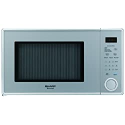 Sharp R-309YV R309 Series 1.1 Cubic Feet 1000-watt Microwave Oven, Mid-Size, Pearl Silver