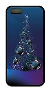 Christmas Tree Balls TPU Black slim iphone 5S case for Apple iPhone 5/5S