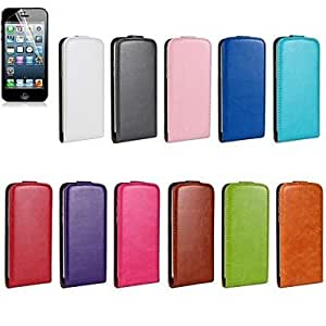 SHOUJIKE Horse Grain Open Up and Down PU Leather Full Body Cover for iPhone6 Plus (Assorted Color) , White