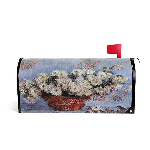 Claude Monet Art Chrysanthemums 1878 Magnetic Mailbox Cover Wraps 20.7