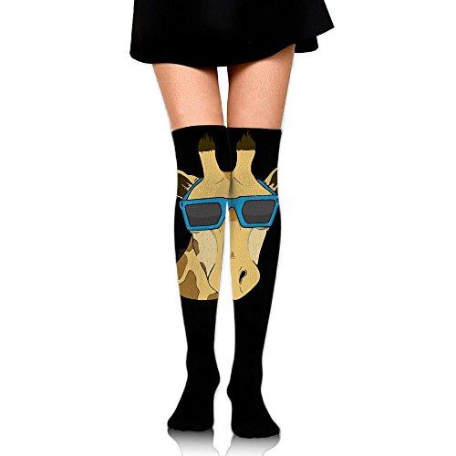 Giraffe With Sunglasses Art Over The Knee Long Socks Tube Thigh-High Sock Stockings For Girls & - Synonyms Sunglass