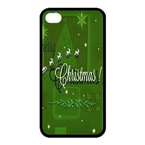 Custom Christmas Back Cover Case for iphone 4,4S JN-518