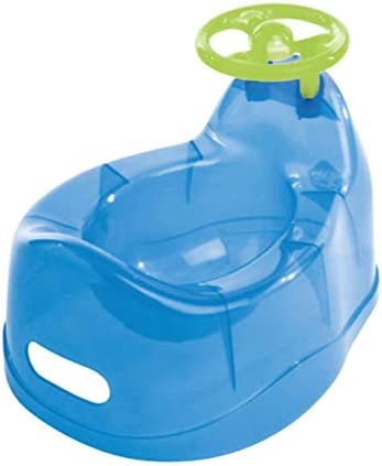 Baby Potty with Steering Wheel Translucent Blue
