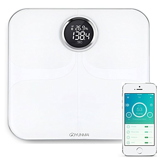 YUNMAI Smart Scale Waage Personenwaage Körperfettwaage Bluetooth 4.0 für iOS & Android M1301