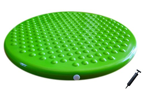 AppleRound Jr. Inflatable Seat Cushion with Pump, 31cm/12in Diameter for Kids, Green