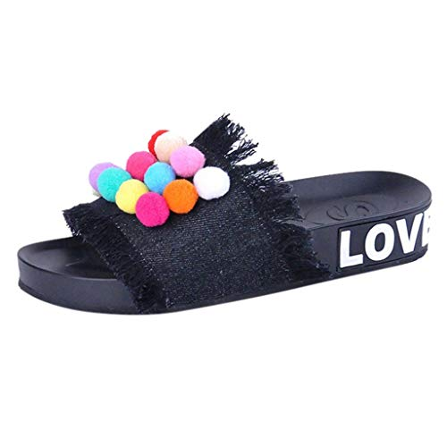 Respctful_shoes for Women Colorful Denim Slipper Soft Sole Slip On Mules Summer Shoe Platform Footbed Sandal Slippers