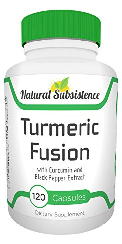 Turmeric Fusion with Black Pepper. 1100mg-120 capsules. Strongest Turmeric w 95 Curcumins. Potent Anti-Inflammatory, Antioxidant, Joint Health for Men Women