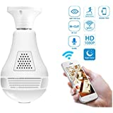 360°HD Camera Bulb VR Panoramic Wifi Bulb Camera Wifi Light Bulb Camera Night Vision VR Panoramic Bulb Camera Wifi Panoramic Ip Camera hidden cameras with For home office shop security system