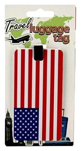 bulk buys USA American Patriotic Flag Luggage Tag, Red, White & Blue ()