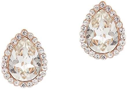 Topwholesalejewel Wedding Earrings Oval Shape Rose Gold Stud Earrings