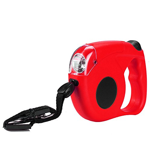 Flexzion Retractable Dog Leash Red