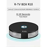 R-TV Box R10 4G RAM 64G ROM Rockchip3328 Dual WiFi Android 7.1 TV Box BT 4.1 Support Dual Channel WiFi 2T2R Connected 3D 4K HDR Video Playing