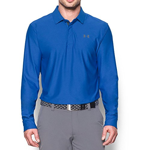 Under Armour Men's Playoff Long Sleeve Polo, Blue Marker/Graphite, X-Large