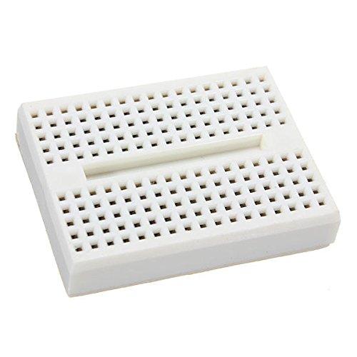 10Pcs White 170 Holes Mini Solderless Prototype Breadboard for Arduino by Anddoa (Image #2)