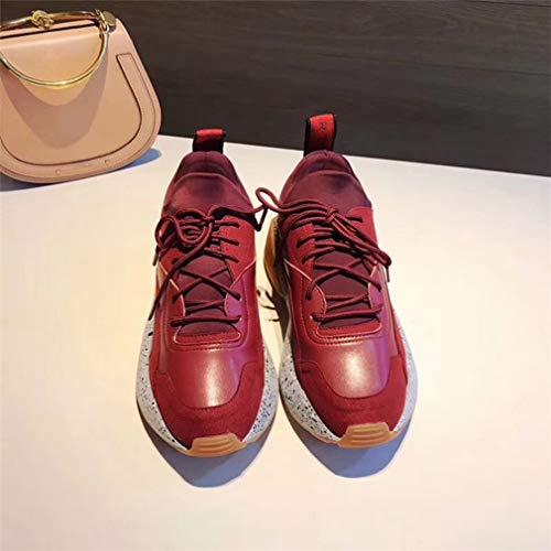 Spessore Donna Retrò Red Da Casual Scarpe Singole 38Uk Scarpe Di Di Moda Sport Suola cCwUqr8gw5