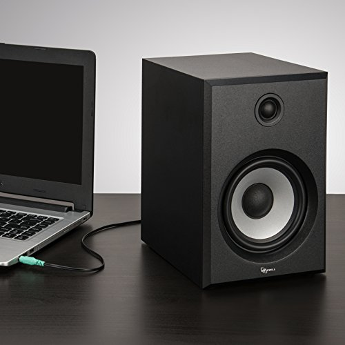 ROSEWILL Bluetooth Computer Speaker System for Laptop, Smartphone, Tablet and Multiple Devices. 2.0 Active Near Field Monitor, Studio Monitor Speaker, Wooden Enclosure. Best Wireless Bookshelf Speaker by Rosewill (Image #6)