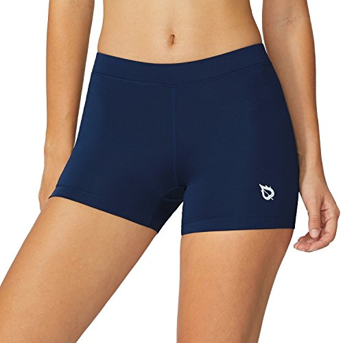 Baleaf Women's 3'' Active Fitness Volleyball Shorts Blue Size S