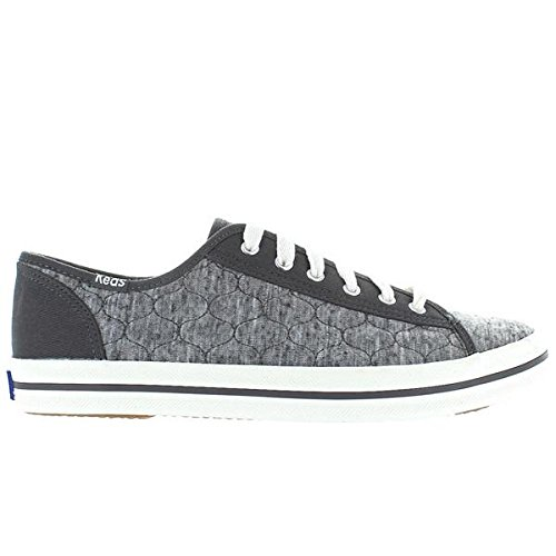 Keds Women's Kickstart Quilted Jersey Fashion Sneaker,Charcoal,10 M US (Jersey Quilted)